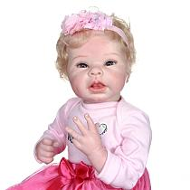 55CM art doll lifelike soft body 100% handmade detailed painting collectibles reborn baby doll