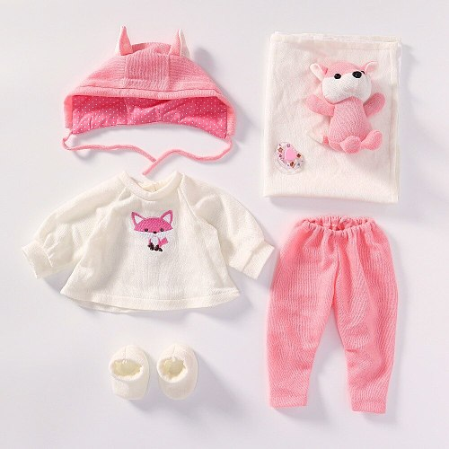 Cute Fashion Doll Clothes Sets Doll Dress Princess For 22 inch Reborn Baby with Little yellow duck clothes