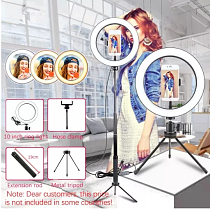 6/10 inch ring light with tripod LED Ring Light Selfie Ring Light with Stand for Youtube tik tok Live lighting photography