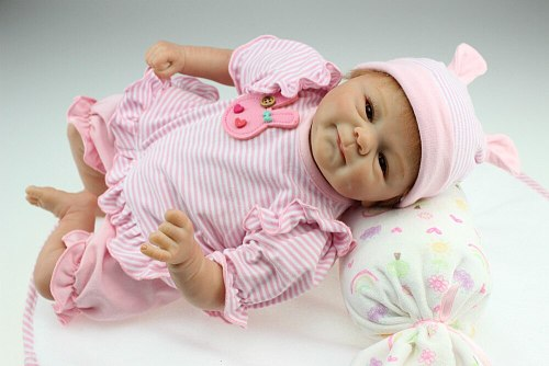 Real 40cm Silicone Lifelike Bonecas Baby newborn realistic magnetic pacifier bebes reborn dolls babies toy