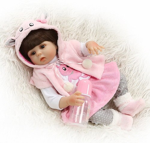 48CM Full Silicone Body Reborn Baby Doll Toy For Girl Vinyl Newborn Princess Babies Bebe Bathe Accompanying Toy Birthday Gift