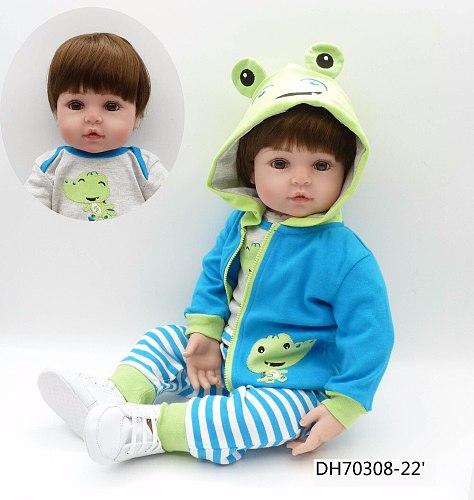 big size 60CM 6-9Monthbaby size lifelike reborn toddler silicone dolls babies fashion princess gift for girls bebe gift bonecas