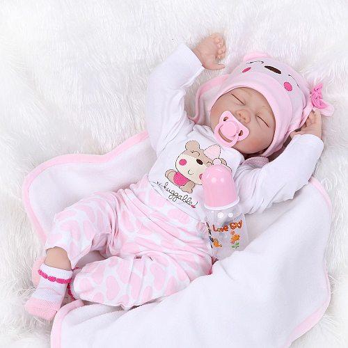 40CM Soft Silicone Reborn Baby Dolls Vinyl Dolls For Girls Toys, Baby Dolls for Princess Children gift
