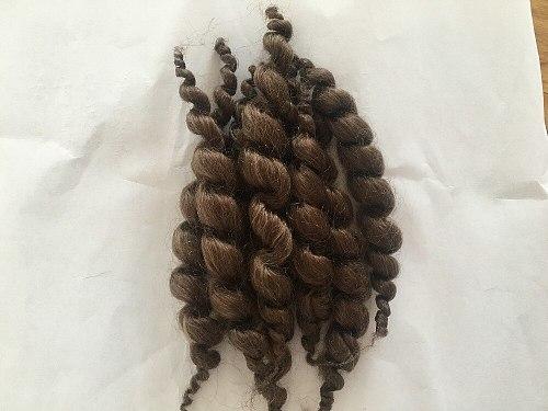 Reborn doll supplies premium curly dark brown mohair 20g