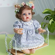 30CM Flo fairy bebe girl finished doll reborndoll lifelike real touch soft body mini doll cute doll for collectors