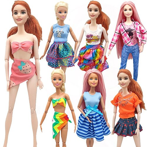 Handmade Outfit for Barbie Dolls Clothes Toys for Girls Swimsuit Fashion Doll Accessories Dress Toys for Children Doll Clothes
