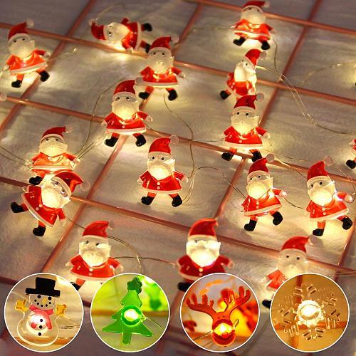 Snowman Christmas Tree LED Garland String Lights Christmas Decoration For Home 2020 Christmas Ornaments Navidad Natal New Year