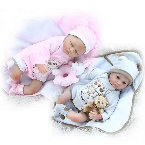 40CM reborn baby premie doll lifelike little twins baby in blanket hand rooted hair high quality doll colllectibles