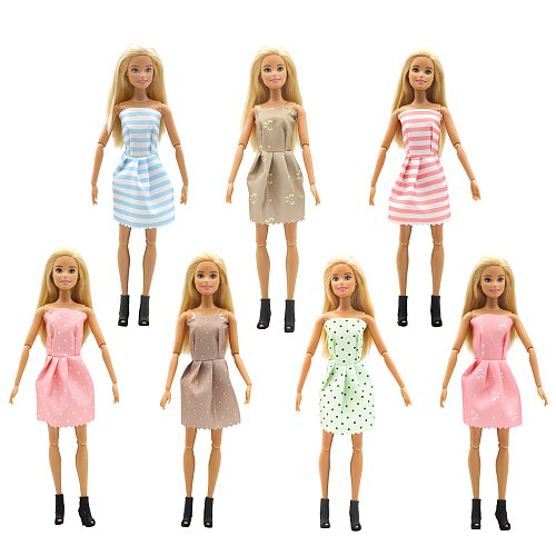 For Original Barbie Fashion Doll Clothes Handmade Outfit Girls Style Wear Blouse Dress Skirt for 29cm 1/6Dolls Toys Accessories