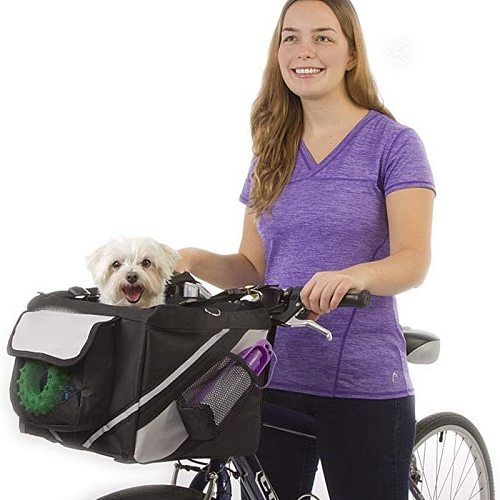 2 In 1 Pet Bicycle Carrier Shoulder Bag Puppy Dog Travel Bike Carrier Seat For Small Dog Basket Products Travel Accessories