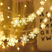 Snowflake LED Light Merry Christmas Tree Decoration For Home 2020 Christmas Ornament Navidad Xmas Gift Happy New Year 2021