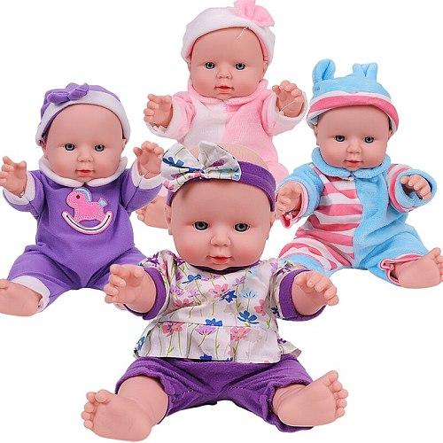 12 inch Bebe Reborn Dolls For Kids Full Silicone Body Baby Doll Lifelike Baby Dolls Reborn For Girl Toys Children Birthday Gift