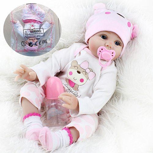 55cm Reborn Baby Dolls Cute Soft Handmade Realistic Newborn Silicone Vinyl Baby Dolls Toys for Girl Boys Kids Birthday Xmas Gift