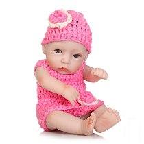 12Inches Lovely Mini Reborn Babies Girl Realistic Lifelike Full Vinyl Handcraft Newborn Baby Doll For Kids