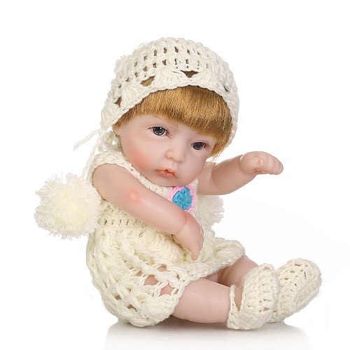Mini Full Silicone baby Reborn Baby Girl Dolls Soft Body Doll Realistic Toys Bath Playmate Newborn Juguetes