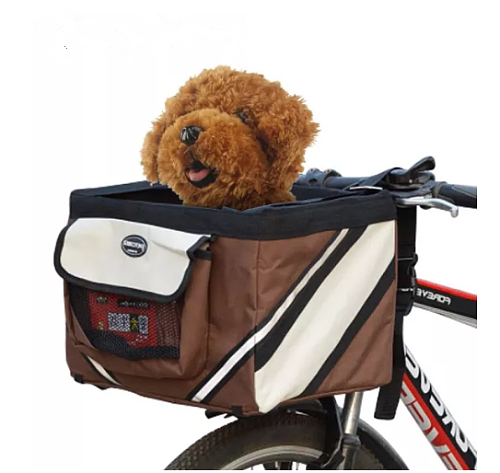 Pet Bicycle Carrier Bag Puppy Dog Travel Bike Carrier Seat For Small Dog Basket Products Travel Accessories