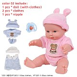 12 inches Bebe Reborn Toys Dolls For Baby Girl Newborn Full Silicone Toys Gift For Children Playmate Rubber Dolls