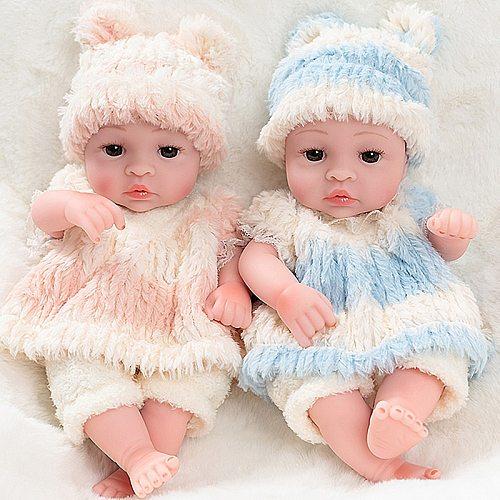 30cm Lovely Baby Dolls Reborn Full Soft Silicone Realistic Reborn Baby Body Lifelike Alive Babies Toys For Girls Kids Gift Dolls