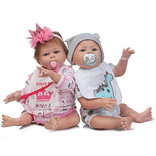 20 soft silicone full body Handmade Lifelike Baby doll best Christmas gift silicone Bebes Reborn dolls bath toy twins