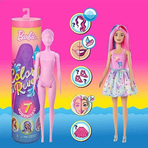 Original Barbie Color Reveal Doll Magic Accessories Playset Figure Blind Box Fashion Dolls Baby Girl Puzzle DIY Surprise Toys