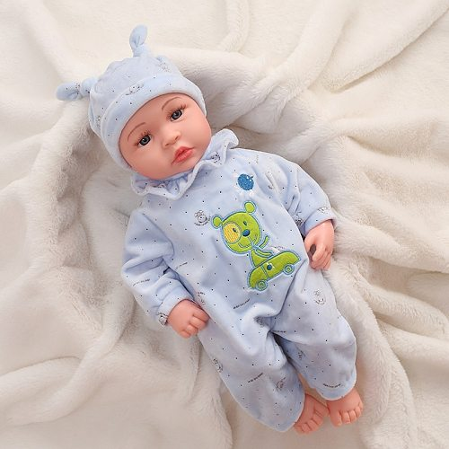 45cm ITOUCH Function Baby Dolls Speak Papa Mama Laughing Crying Silicone Reborn Super Baby Lifelike Toddler Baby Boneca Kid Gift (Please see the video)