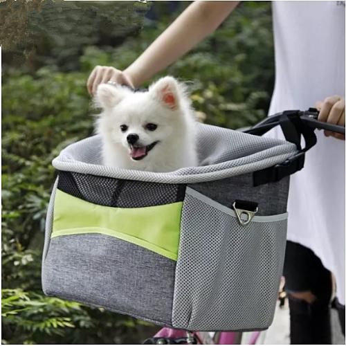Pet Dog Carrier Bag Portable Cycling Bicycle Front Basket Pet Frame Bag Dog Seat Basket Bike Carry Single Shoulder Bag