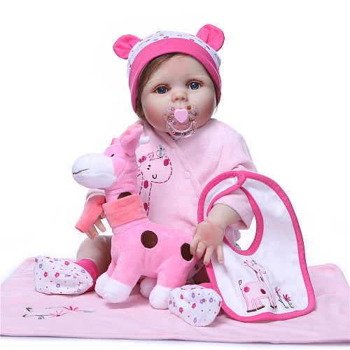 Full Body Silicone Reborn Baby Doll kids Playmate Gift For Girls Baby Girl Alive Soft Toys For Bouquets Doll Bebes Reborn