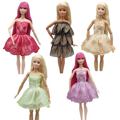 For 18 Inch Doll Clothes Suit for Barbie Doll Clothes Accessories Ballet Bjd Clothes Girls Toys Princess Dress Gifts for Girls