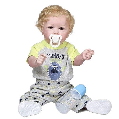 bebes doll 55CM 22inch popular reborn Saskia bebe doll reborn toddler baby in long dress handmade collectible art doll bath toy