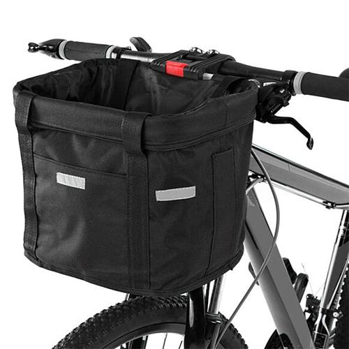 Bicycle Front Basket Removable Waterproof Bike Handlebar Basket Pet Carrier Bag Outdoor Sports for Cycling Supplies