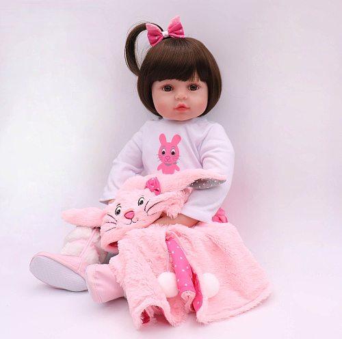 47CM Silicone Reborn Super Baby Lifelike Toddler Baby Bonecas Kid Doll Bebes Reborn Brinquedos Reborn Toys For Kids Gifts
