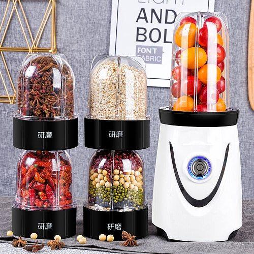 220V Electric Juicer Mini Multifunctional Meat Grinder Automatic Milkshake Blender Powder Grinder With 3 Cups EU/AU/UK/US