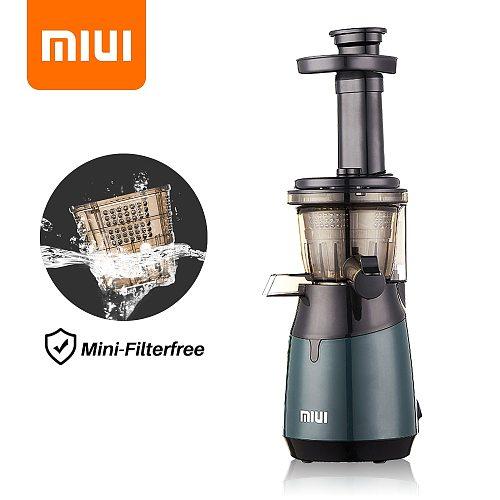 MIUI Slow Juicer Cold-Press Masticating Juice Extractor Filterfree Quiet Juicer Machine for Fruit & Vegetable 2021 New upgrade