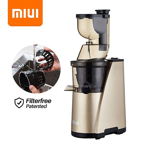 MIUI Slow Juicer 7-LV Cold Press Extractor Filterfree & Easy Clean Masticating Auger Fruit Juicer Machine Quiet-Motor