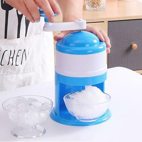 Household Mini Easy Ice Shaver Crusher Handheld Snow Manual Crushing Ice Machine Y5LF