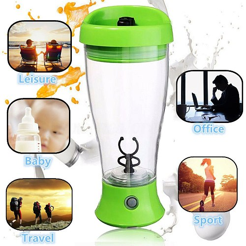 Electric Protein Shaker Blender Cup Milk Drink Water Vortex Mixer Juicer Bottle Mug Portable Leak-Proof Household