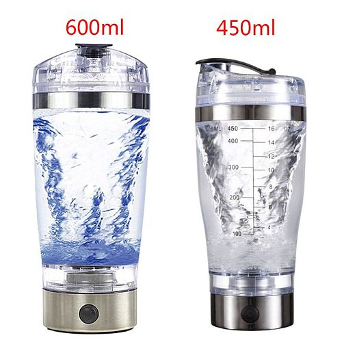 450ml/600ml USB Rechargeable Electric Mixing Cup Portable Protein Powder Automatic Shaker Bottle Leakproof Mixer