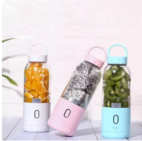 500ml Mini Portable Electric Fruit Juicer USB Rechargeable Smoothie Maker Blender Fruit Cup Mixer Juicing Cup Dropshipping