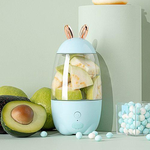 Portable electrical Juicer Household Juicer cup blender Fruits USB Charging Mini Smoothie Blender Outgoing Juicer Rabbit Shape