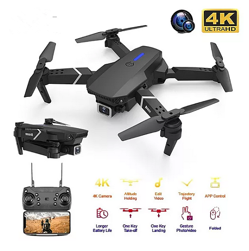2021 New Quadcopter E525 WIFI FPV Drone With Wide Angle HD 4K 1080P Camera Height Hold RC Foldable Quadcopter Dron Gift Toy