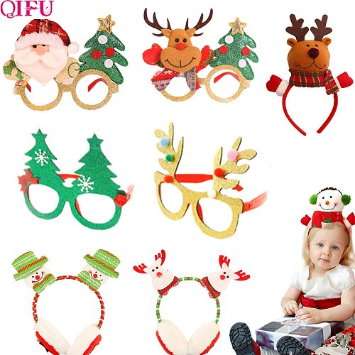 2020 christmas glasses Frame Headband Christmas Ornaments Christmas items gift Party Cristmas Decoration New Year 2021 Noel