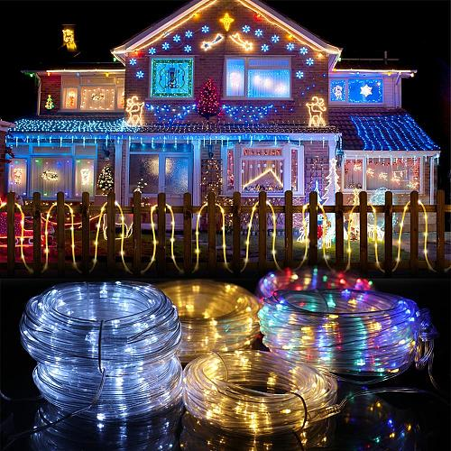 Christmas Solar String Lights Merry Christmas Decor for Home Outdoor Navidad 2020 Chrismtas Ornaments Xmas Gifts New Year