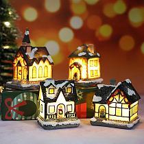 Christmas House LED Light Merry Christmas Decor for Home 2020 Navidad Christmas Tree Ornaments Xmas Gifts New Year 2021