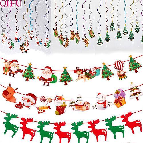 Flag Tree Spiral New Year Christmas Garland Christmas Ornaments Christmas Decorations For Home 2020 Xmas Decor Noel Navidad 2021