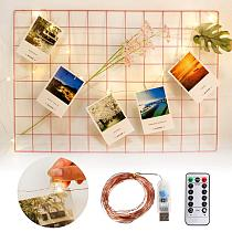 Decorative Photo Clip Led Lights String Garland Holiday lights Christmas Decor for Home Wedding Fairy Lights for Room Bedroom
