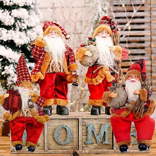 Santa Claus Christms Ornaments Merry Christmas Decor for Home 2020 Navidad Christmas Gift Xams Decor Happy New Year 2021