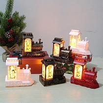Christmas Train LED Light 2020 Merry Christmas Decor for Home Cristmas Table Decor Ornaments Navidad Noel New Year 2021