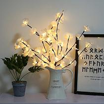 Simulation Orchid Branch Lights Garland Fairy Light Tree Lamp Decorative Led lights for Room Christmas Holiday Lighting