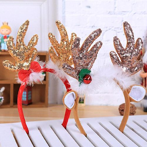 Christmas Headband Christmas Hair Accessories Reindeer Antlers Headband Christmas Hair Band New Year Headband Santa Snowman