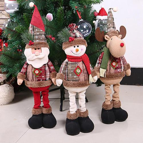 Telescopic Christmas Doll Merry Christmas Decor for Home 2020 Navidad Noel Christmas Ornaments Xmas Gifts New Year 2021